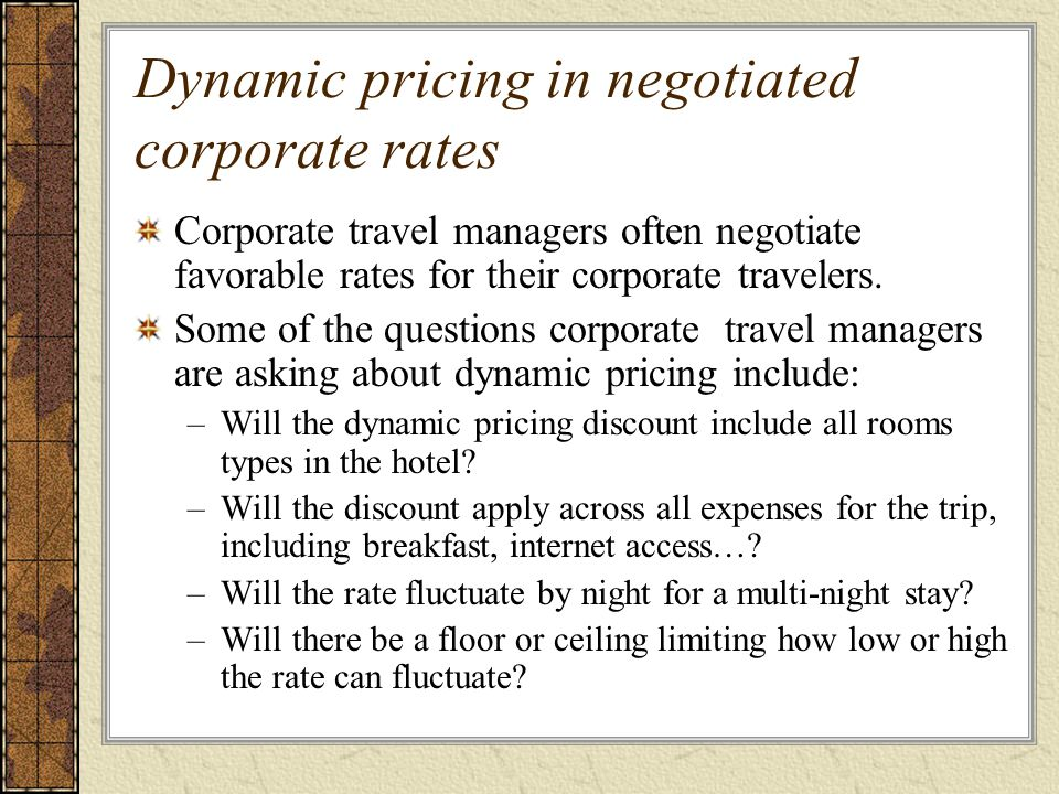 The Role of the Room Rate - ppt download