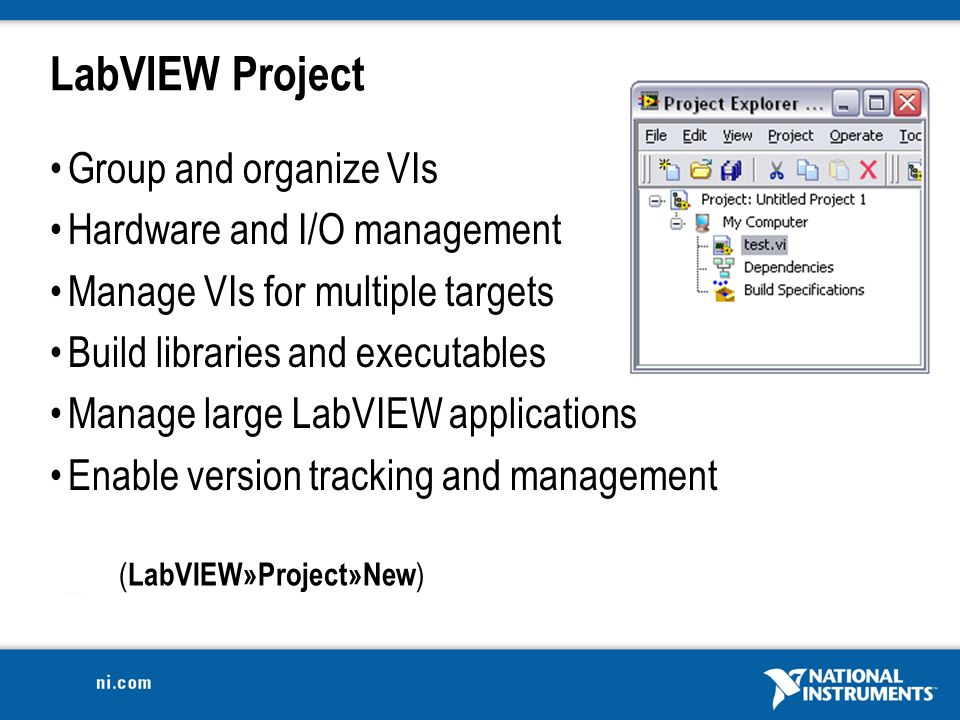 Introduction to LabVIEW For Use in Embedded System Development - ppt