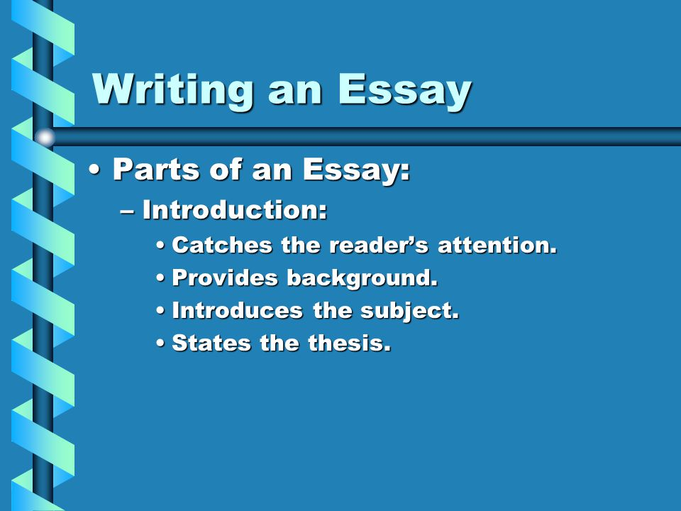 intro techniques essay 5 avoid stale, overused introductory techniques the goal here is to write a college essay introduction that is not like the other hundreds or even thousands of introductions the admissions officer has read this means it's important to avoid boring, predictable introductory techniques.