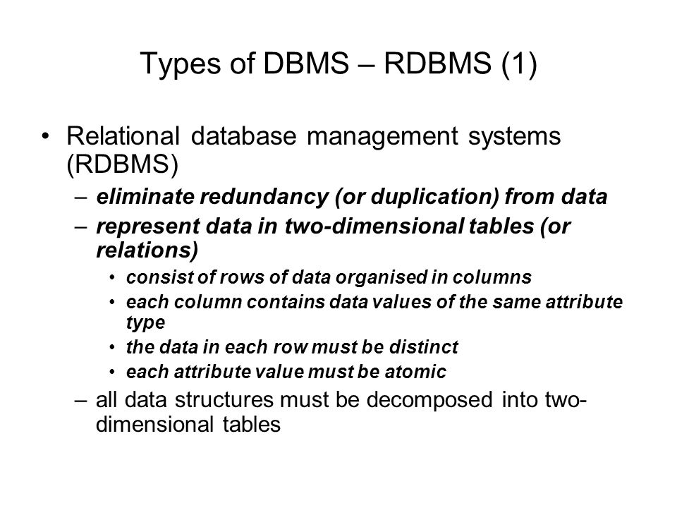 relational database essay A database management system (dbms) is the interface between the database and the various application programsthe database, the dbms, and the application programs that access the database through the dbms are referred to as the database systems were developed to address the proliferation of master files.