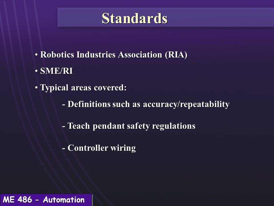Introduction to robotics by ed red ppt download 31 standards aloadofball Image collections