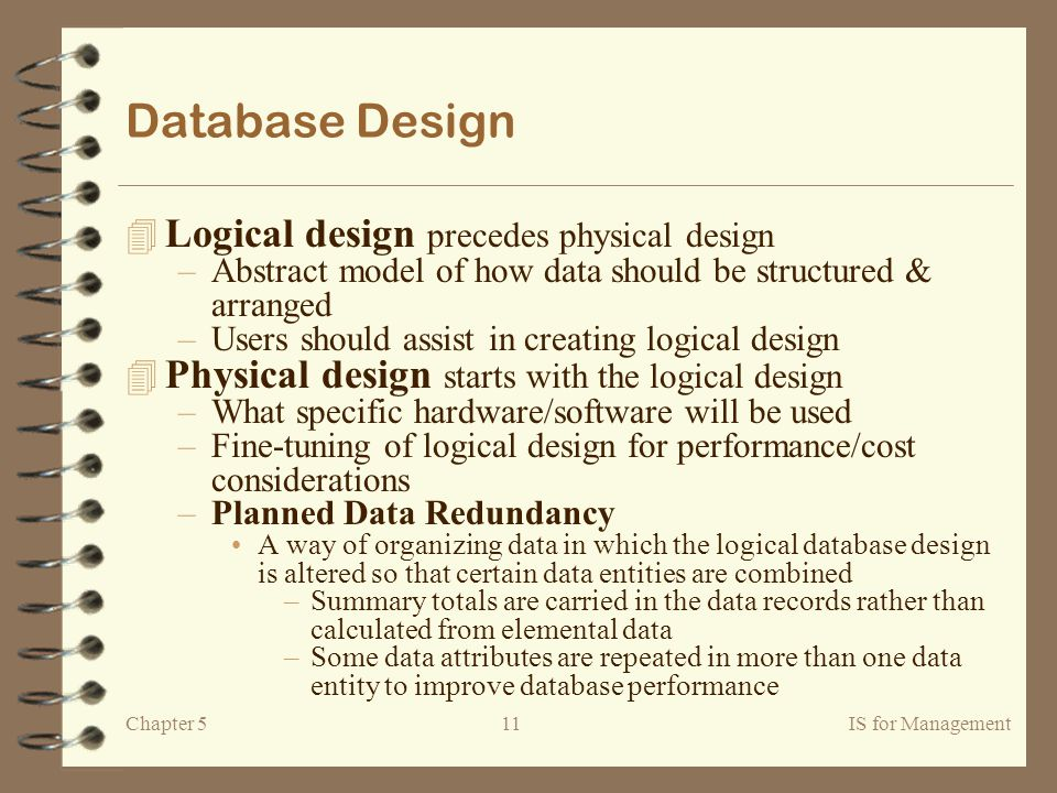 difference between logical and physical design in tabular form