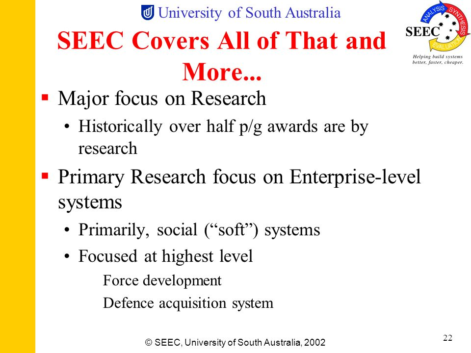 SEEC Covers All of That and More...