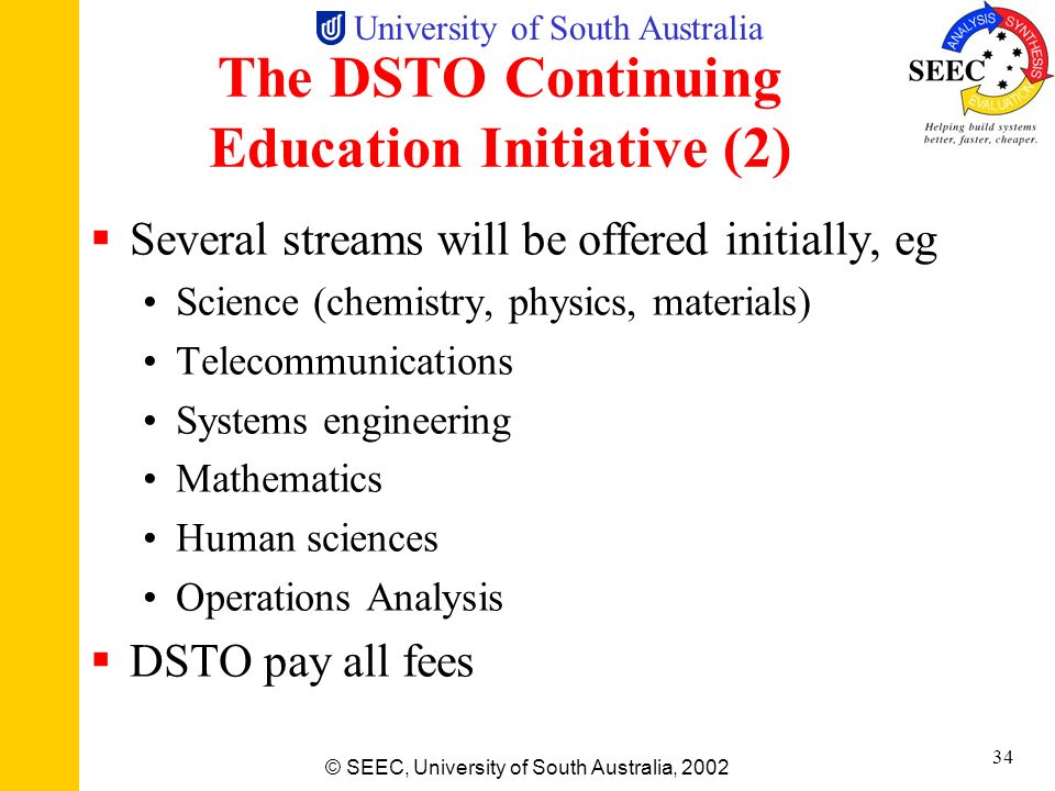 The DSTO Continuing Education Initiative (2)