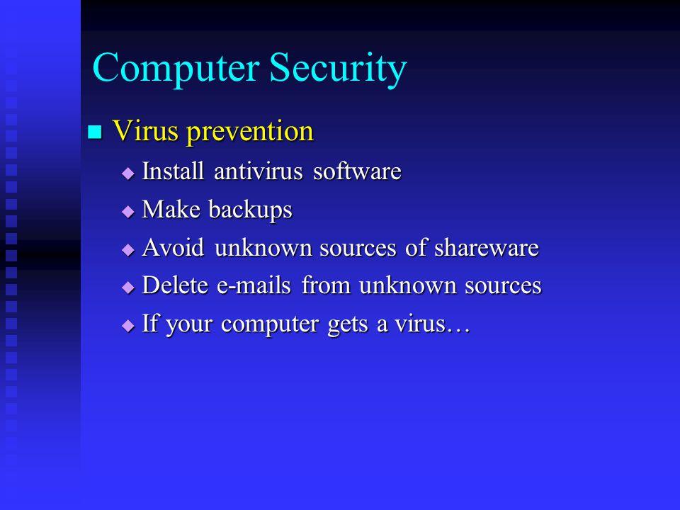 prevention of computer virus