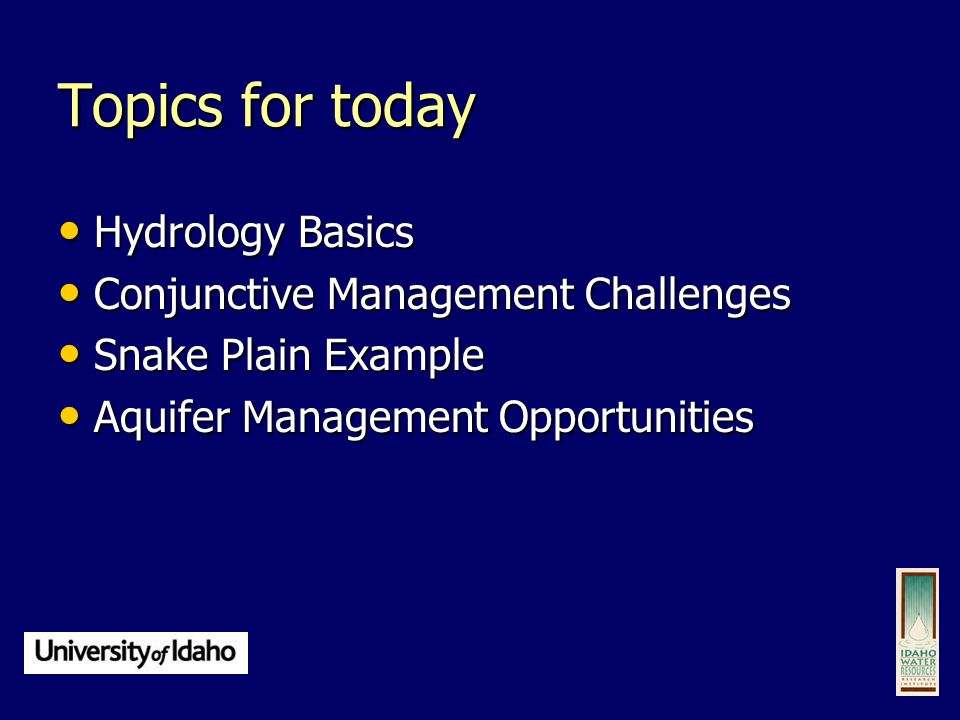 hydrology research topics