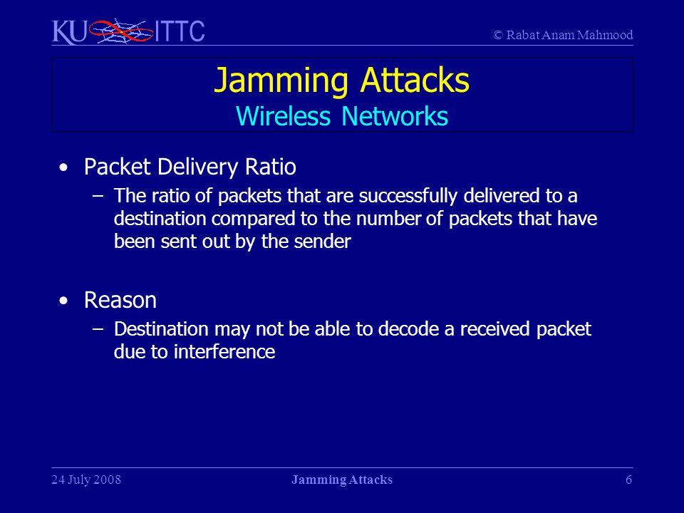 Jamming Attacks Wireless Networks