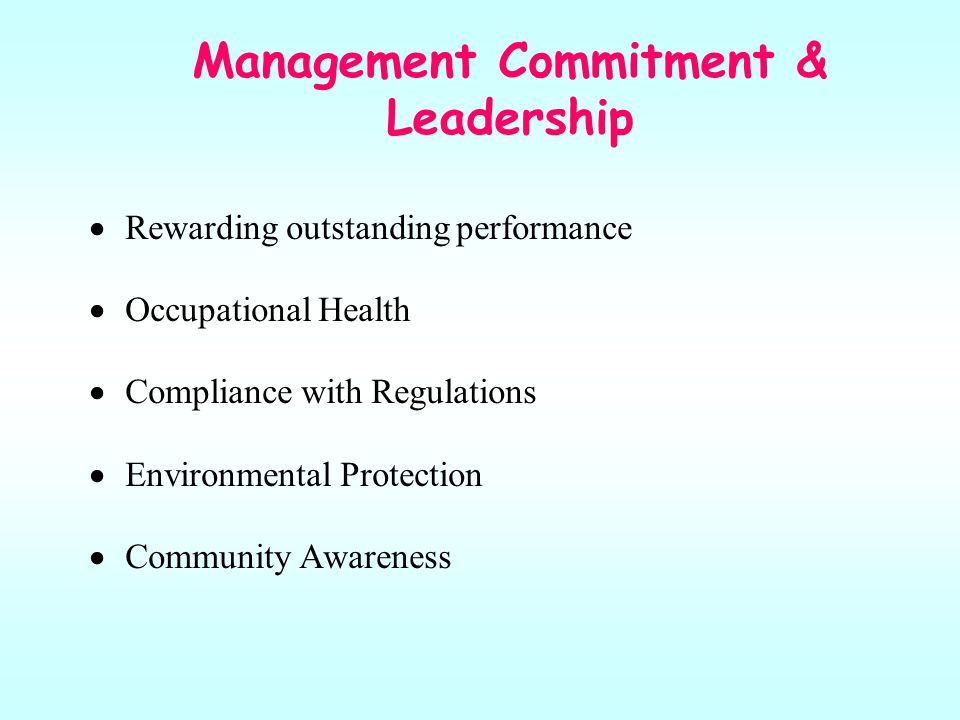Management Commitment & Leadership