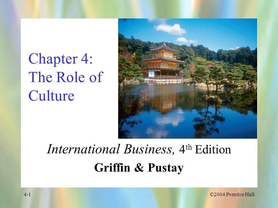 Chapter 4: The Role of Culture