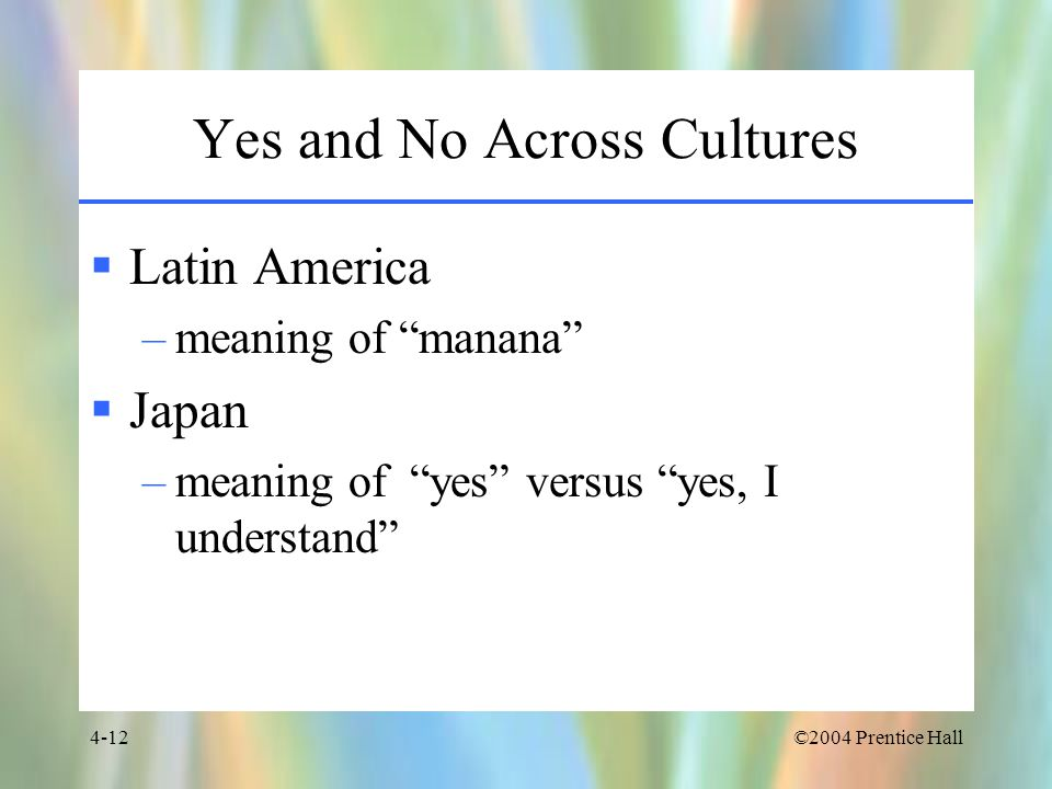 Yes and No Across Cultures