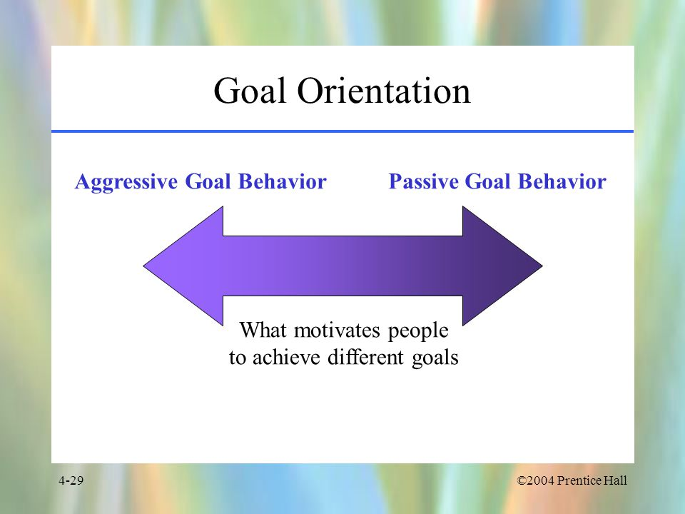 to achieve different goals