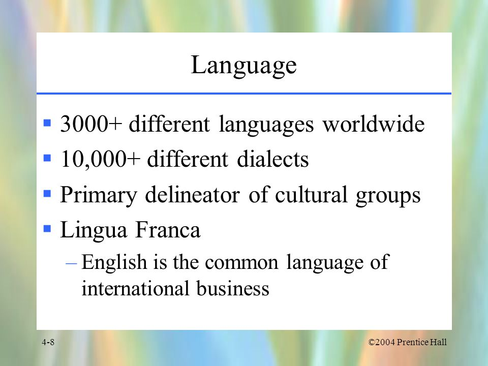 Language different languages worldwide