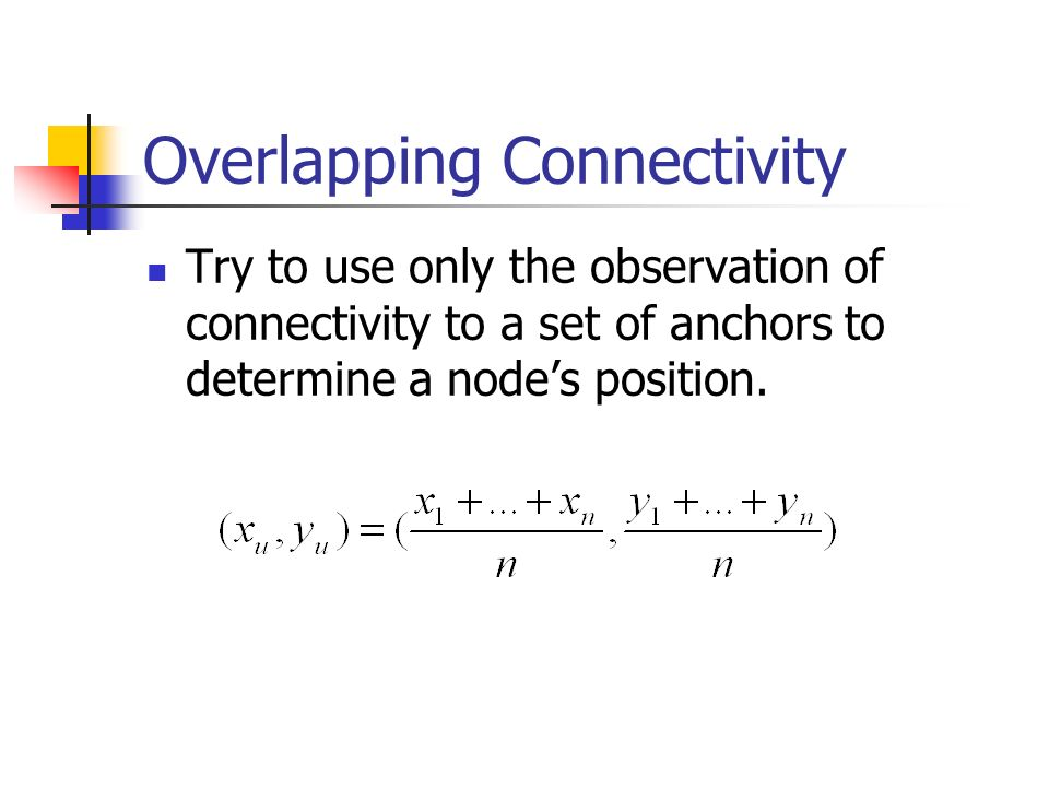 Overlapping Connectivity