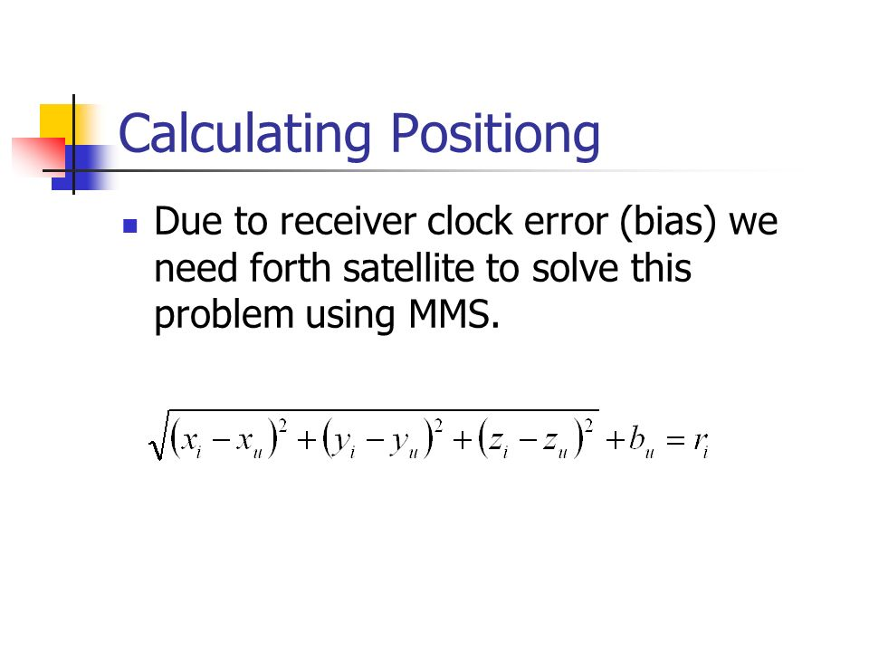 Calculating Positiong