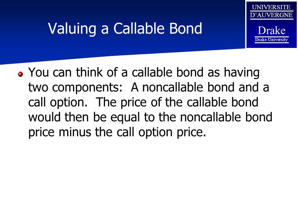 Valuing A Callable Bond