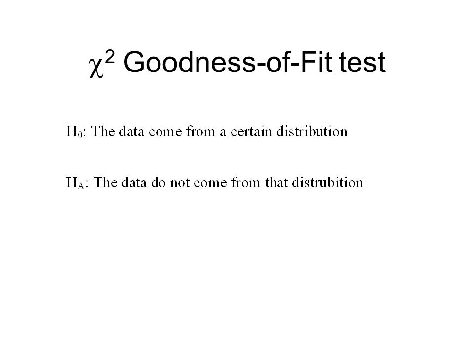 2 Goodness-of-Fit test