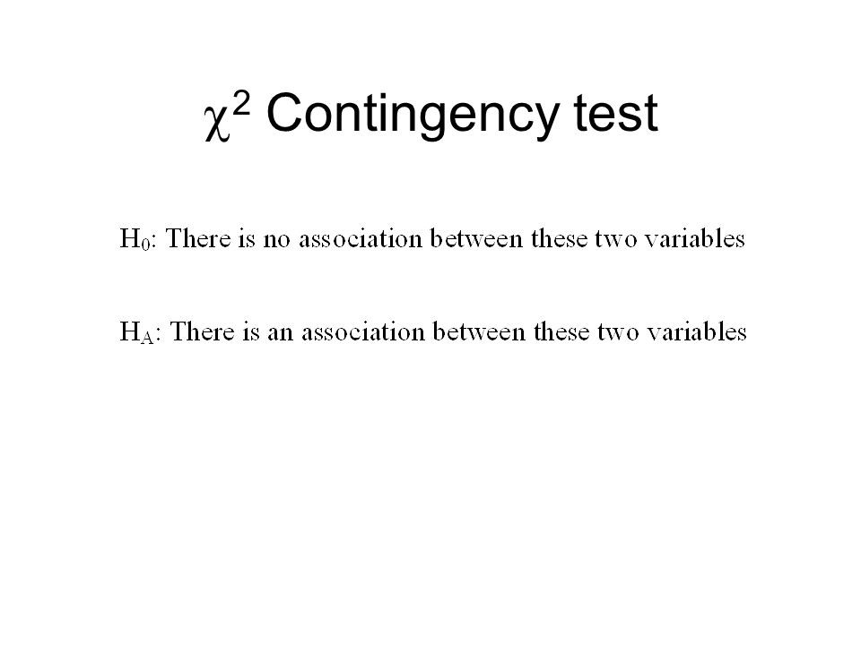 2 Contingency test