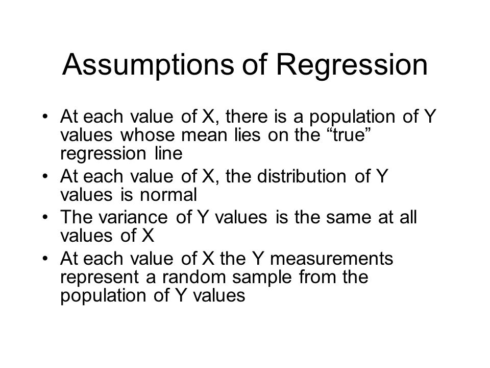 Assumptions of Regression