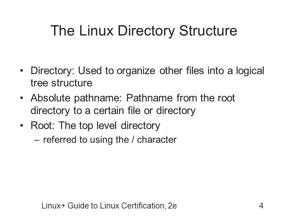 The Linux Directory Structure