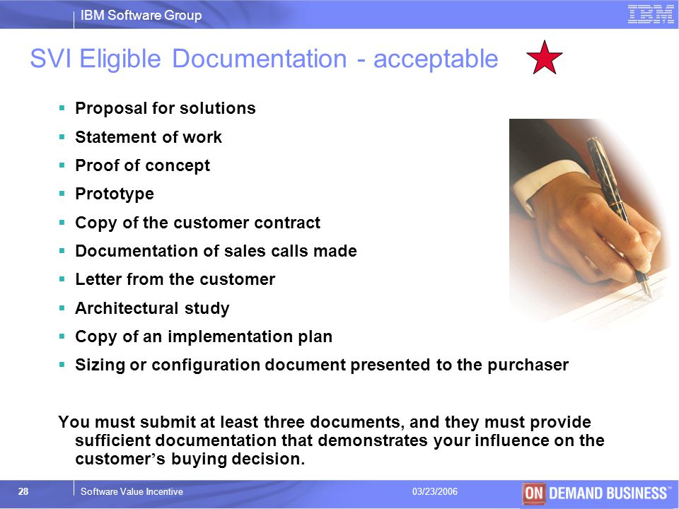 SVI Eligible Documentation - acceptable