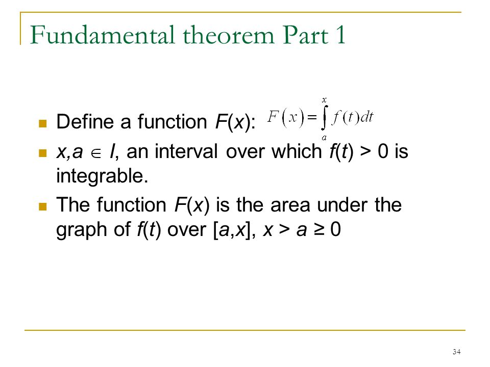 Fundamental theorem Part 1