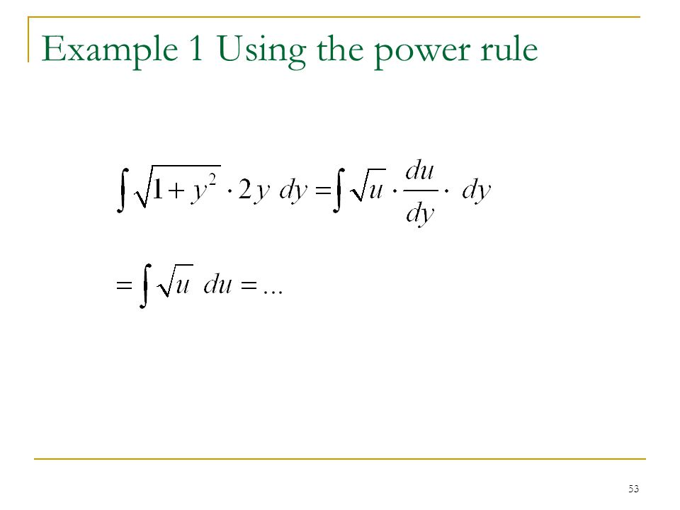 Example 1 Using the power rule