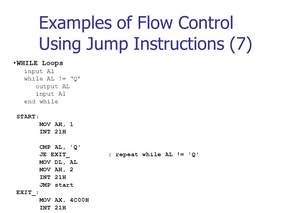Flow Control Instructions - ppt download