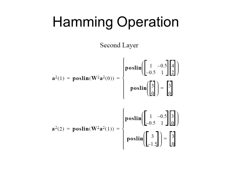 Hamming Operation