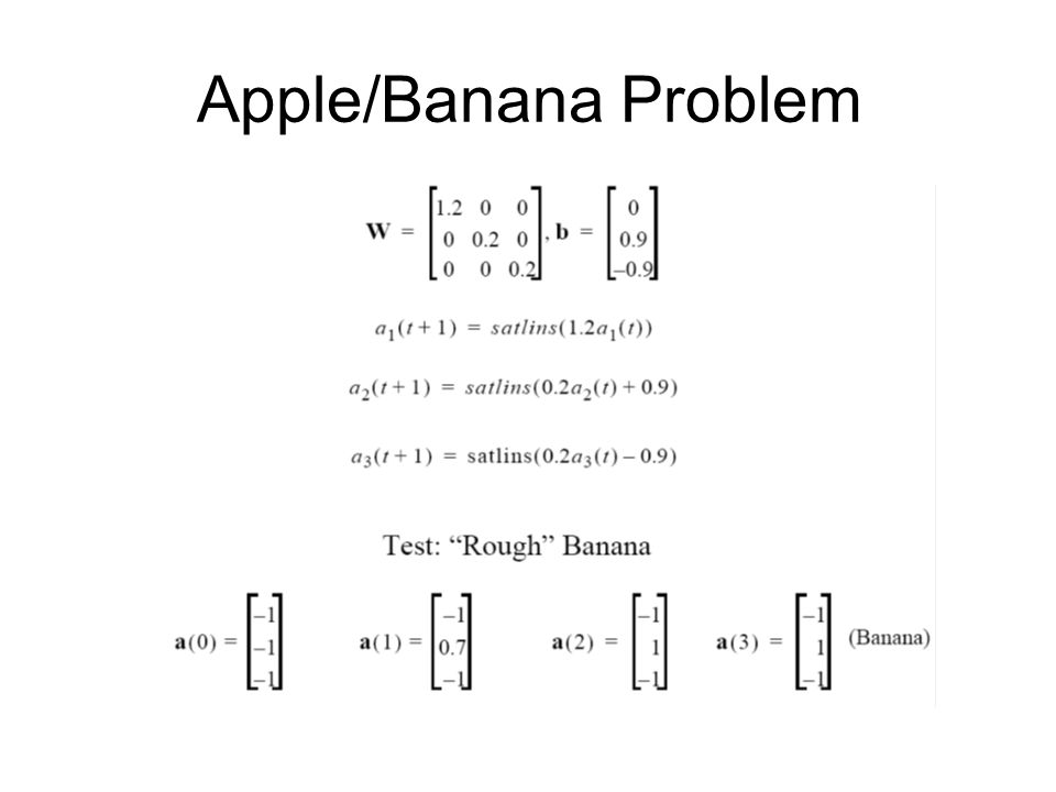 Apple/Banana Problem