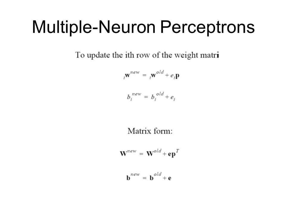 Multiple-Neuron Perceptrons
