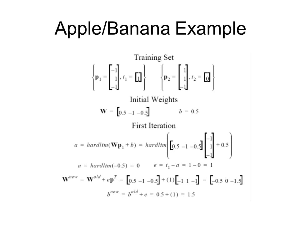 Apple/Banana Example