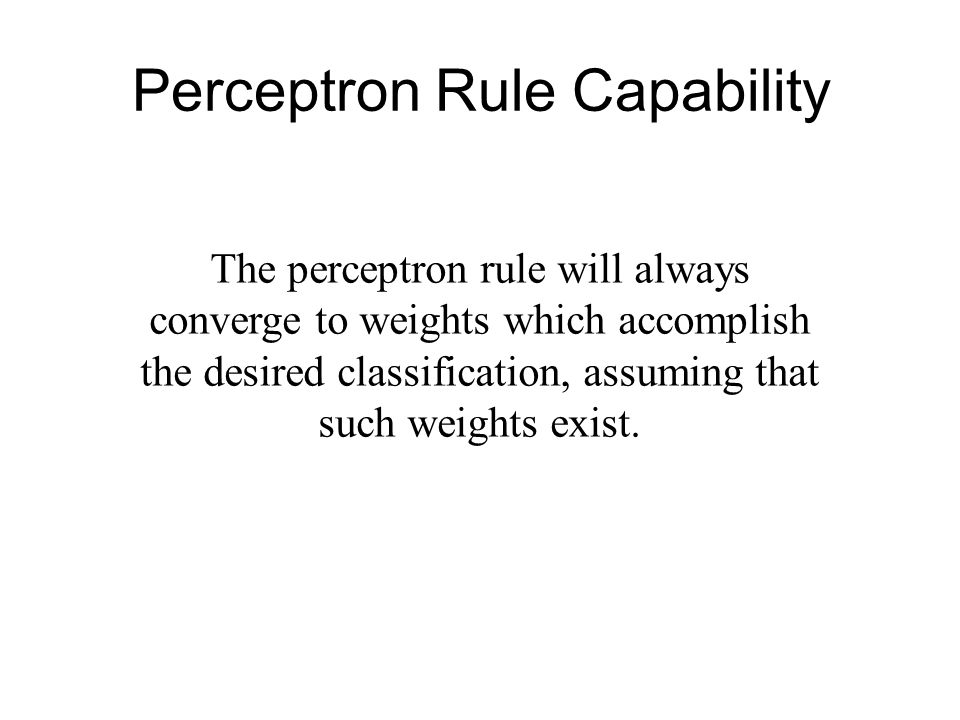 Perceptron Rule Capability
