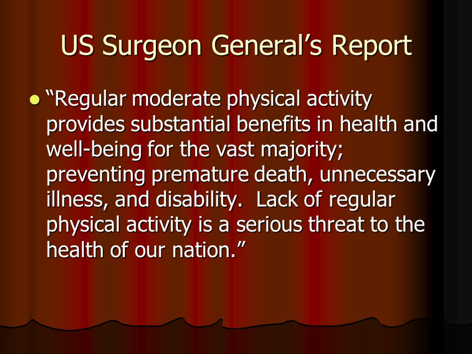 US Surgeon General's Report