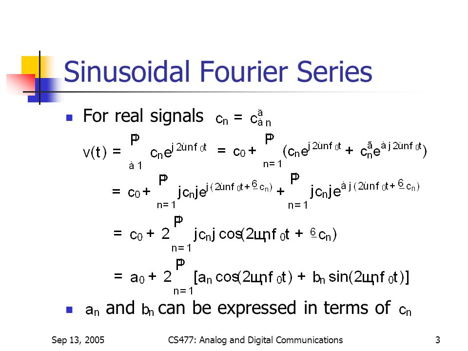 Sinusoidal Fourier Series