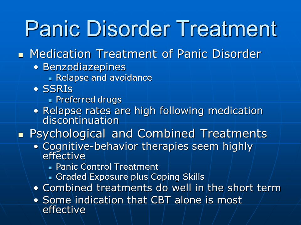 treatment for a panic disorder