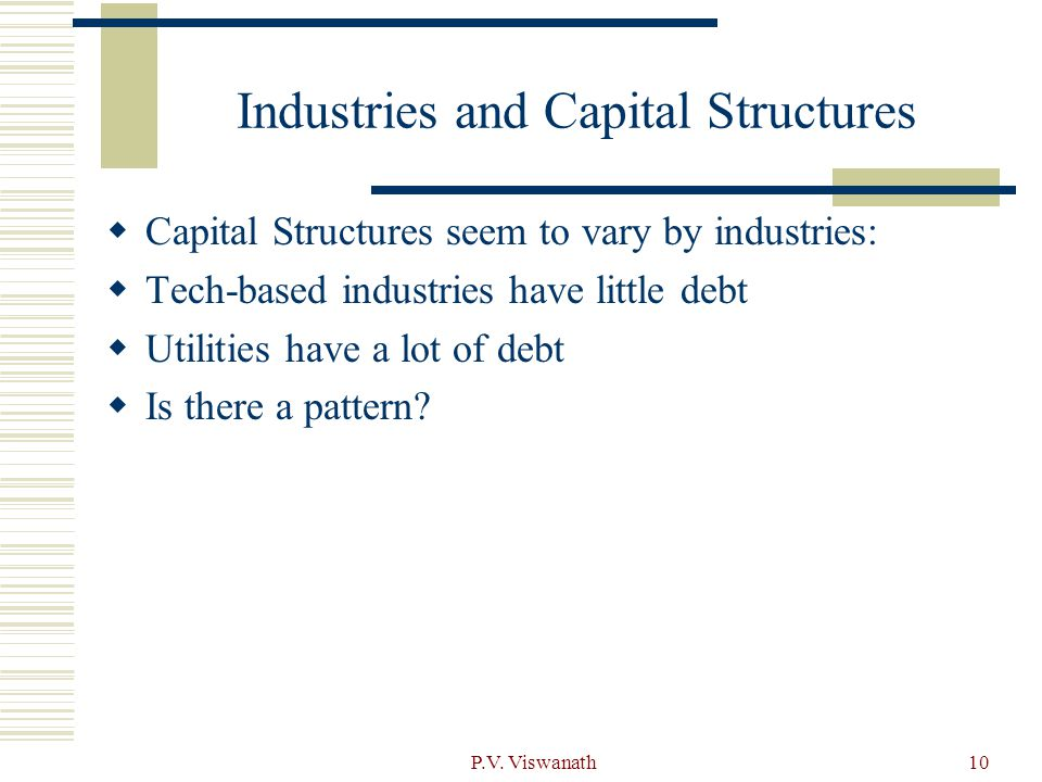 Industries and Capital Structures