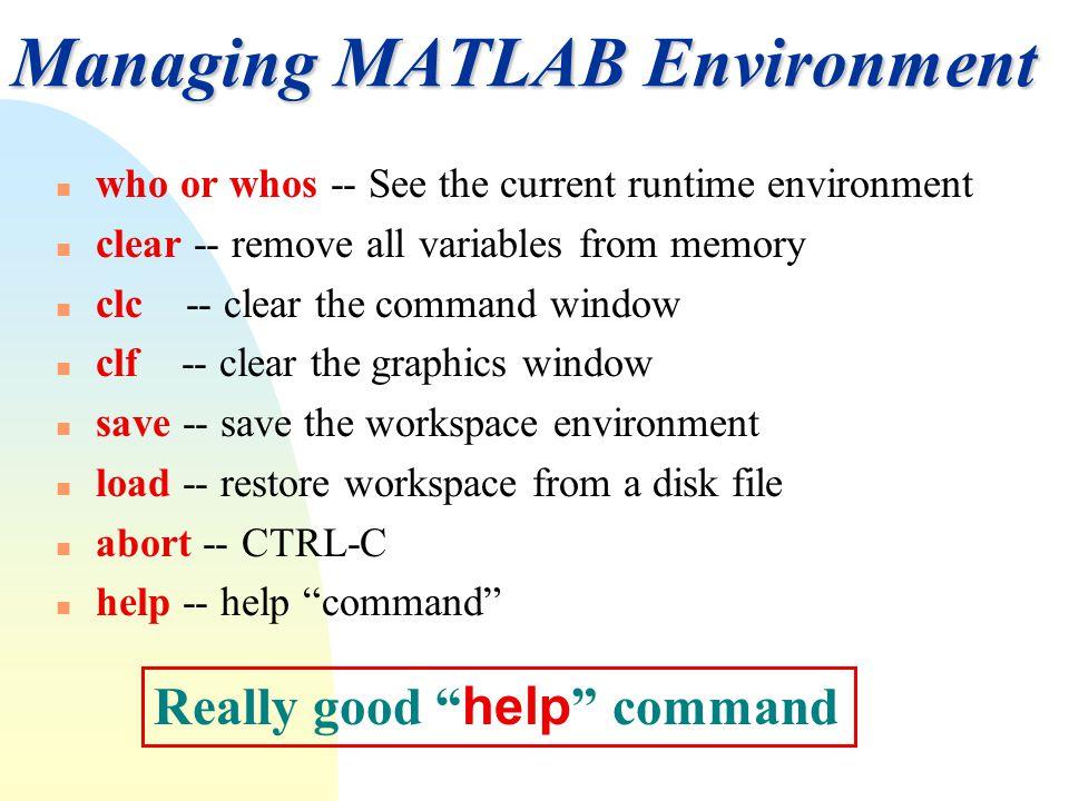 Chapter 2 MATLAB Fundamentals  - ppt video online download