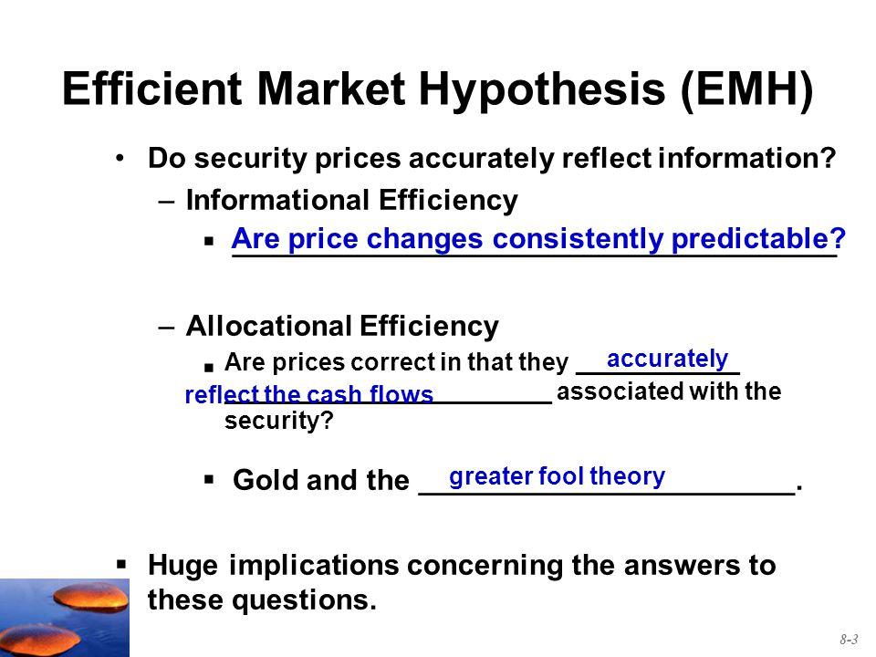 Emh 0 efficient market hypothesis eugene fama, 1964 a market.