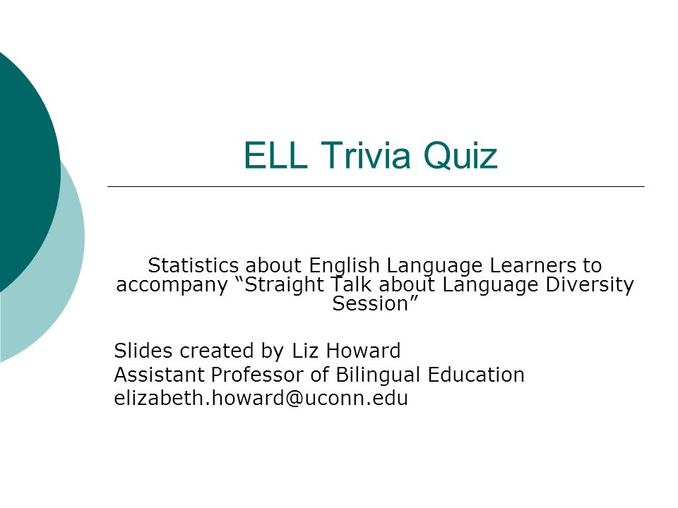 ell trivia quiz statistics about english language learners to
