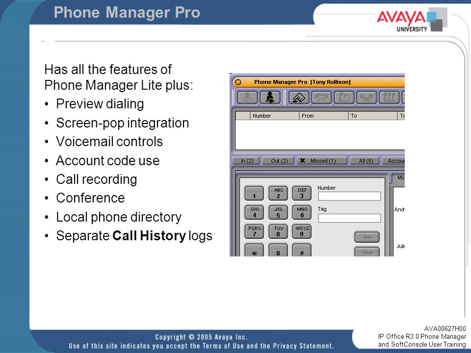 pbx manager lite