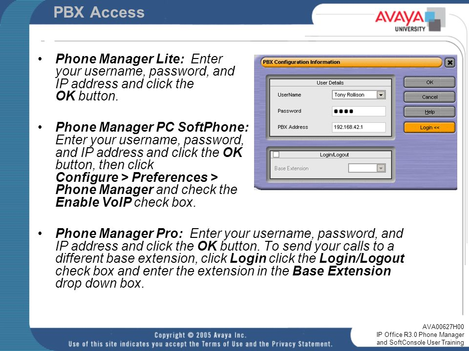 IP Office R3 0 Phone Manager and SoftConsole User Training