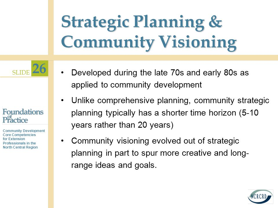 Strategic Planning & Community Visioning