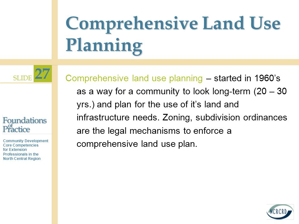 Comprehensive Land Use Planning