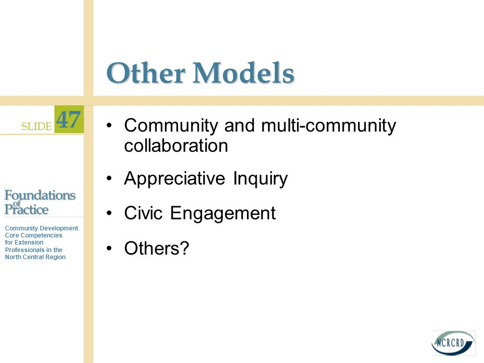 Other Models Community and multi-community collaboration