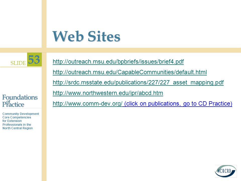 Web Sites http://outreach.msu.edu/bpbriefs/issues/brief4.pdf