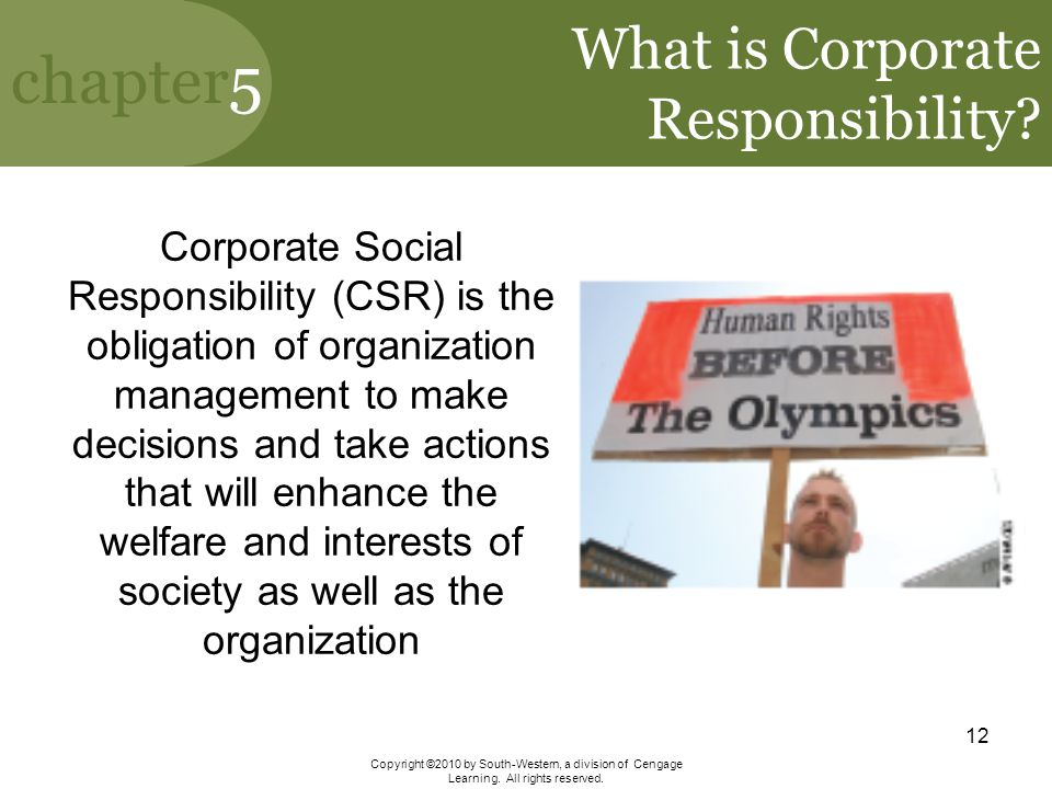 What is Corporate Responsibility