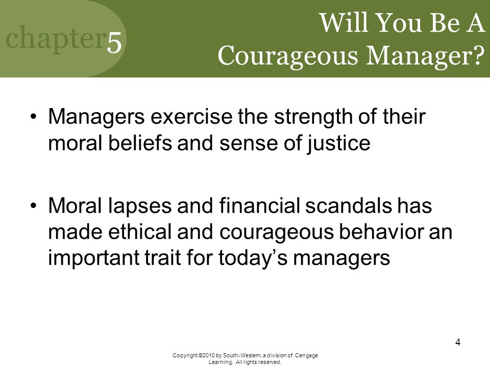 Will You Be A Courageous Manager