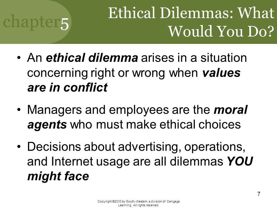 Ethical Dilemmas: What Would You Do