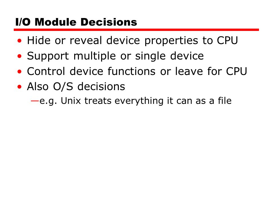 Hide or reveal device properties to CPU