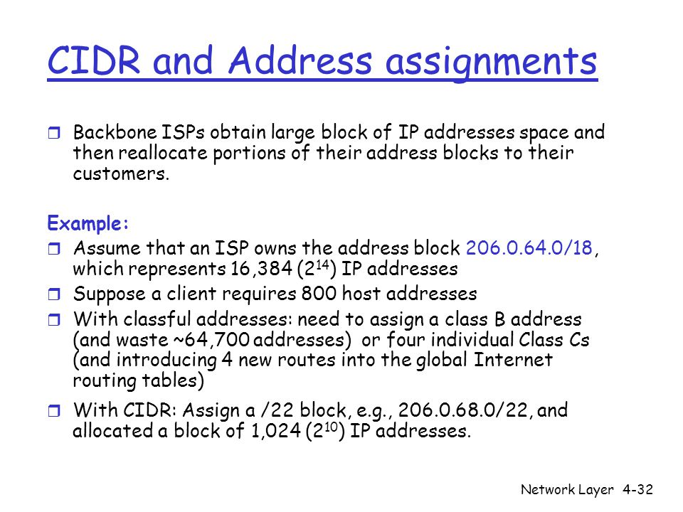 how to find cidr from ip address